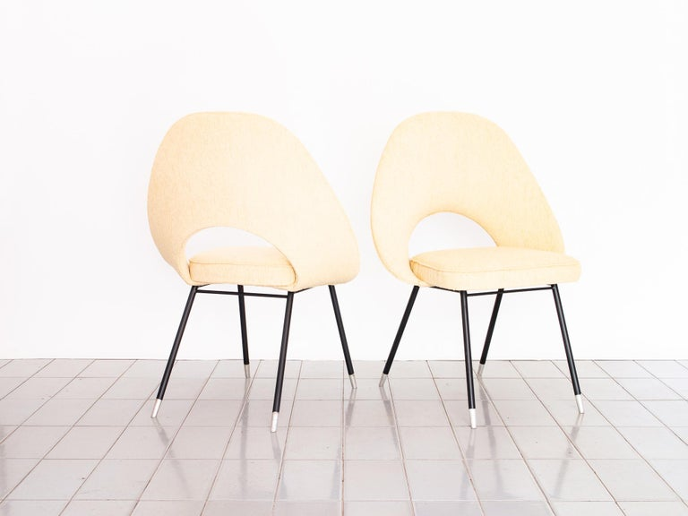 20th Century 1950s Pair of Armchairs in Iron and Bouclé, Brazilian Mid-Century Modern For Sale