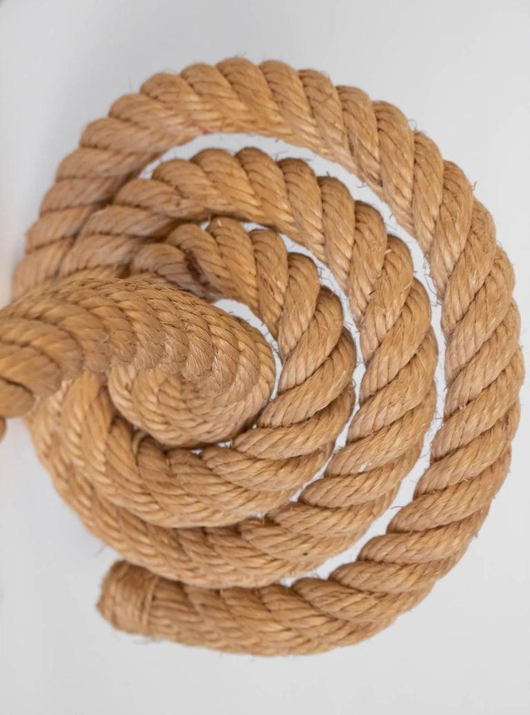1950s Pair of Audoux Minet Rope Sconces For Sale 1