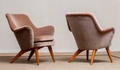 1950s Pair of Chairs by Carl Gustav Hiort af Ornäs for Puunveisto Oy-Trasnideri