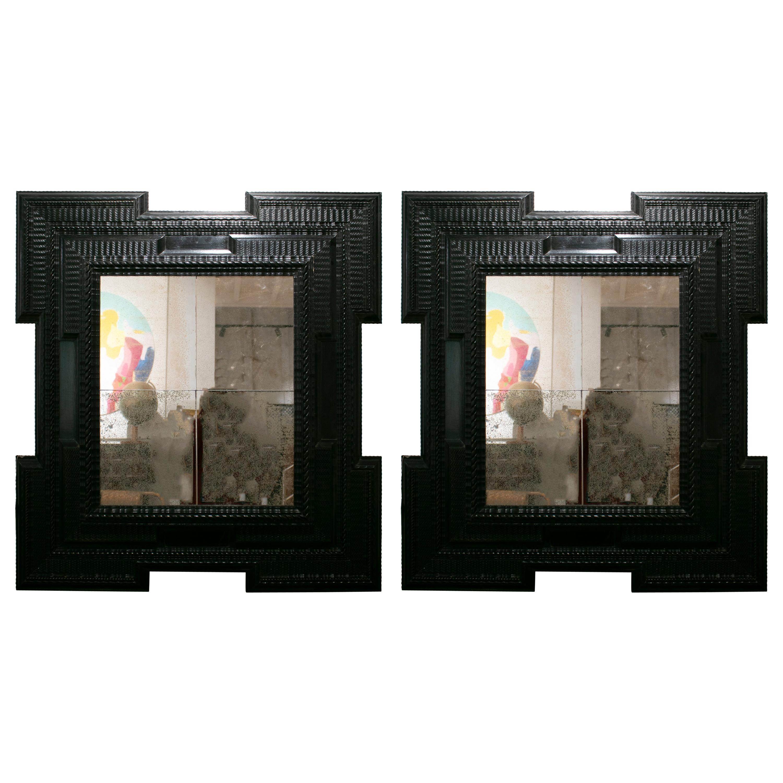 1950s Pair of Dutch Framed Mirrors