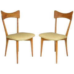 1950's Pair of Italian Chairs by Ico and Luisa Parisi for Ariberto Colombo