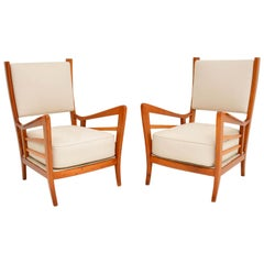 1950s Pair of Italian Vintage Armchairs