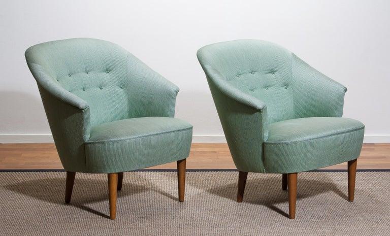 Fabric 1950s Pair of