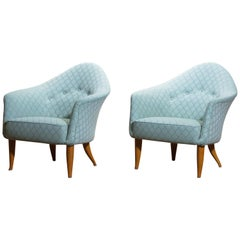 "1950s Pair of ""Little Adam"" Lounge or Easy Chairs by Kerstin Horlin Holmquist"