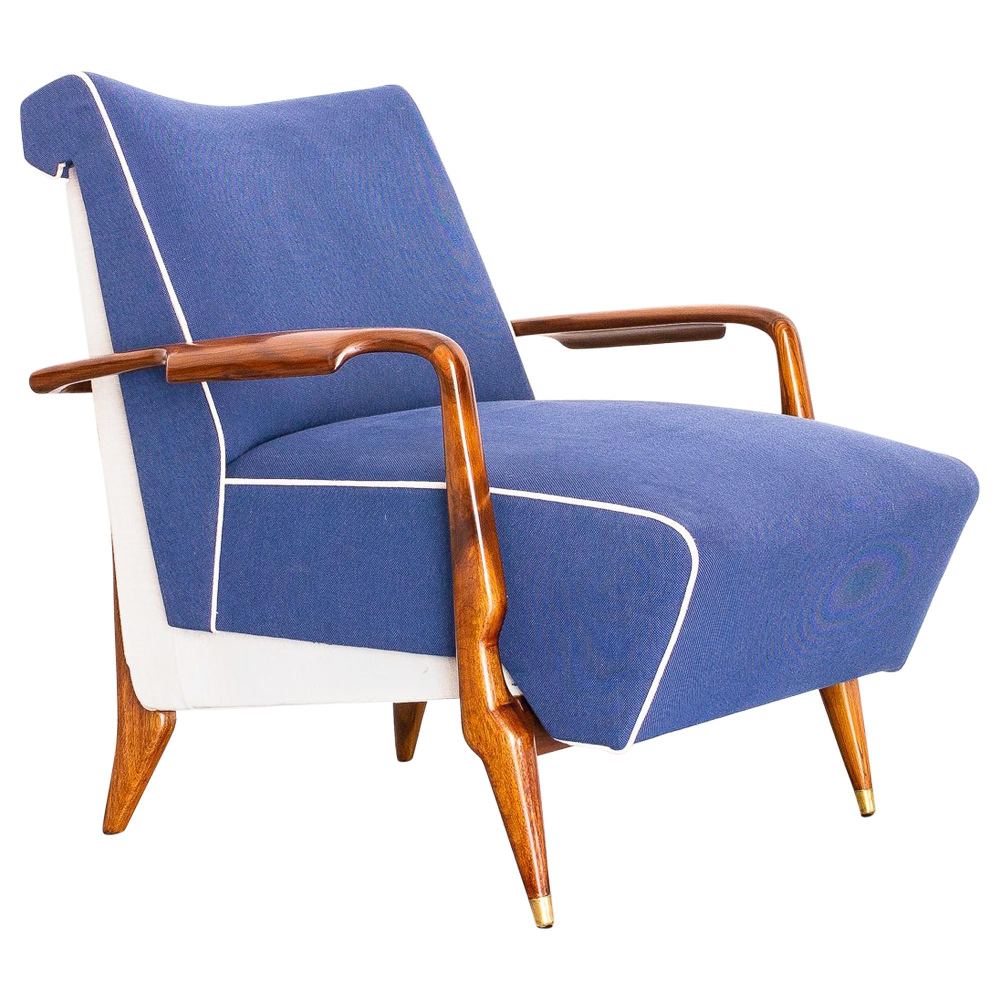 1950s Pair of Lounge Chairs in Imbuia Wood, Brazilian Mid-Century Modern