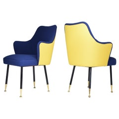 1950s Pair of Midcentury Armchairs Attributed to Gastone Rinaldi