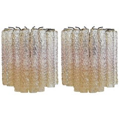 1950s Pair of Murano Glass Sconces by Venini
