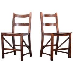 1950s Pair of Saddle Seat Dining, Side Chairs by E Gomme
