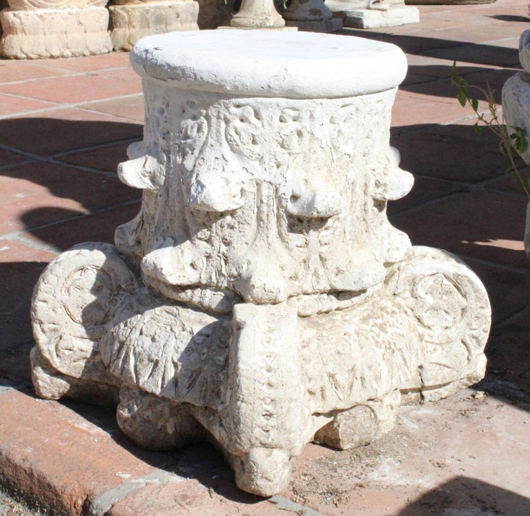 Cement 1950s Pair of Spanish Sandstone Alhambra Style Capital For Sale