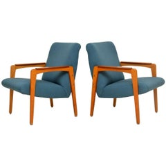1950s Pair of Swedish Teak Vintage Armchairs