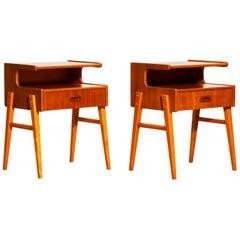 1950s Pair of Teak 'Model C' Bedside Tables