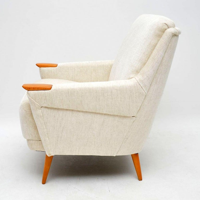 1950s Pair of Vintage Danish Armchairs For Sale 2