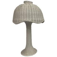 1950s Pair of Wicker Lamps