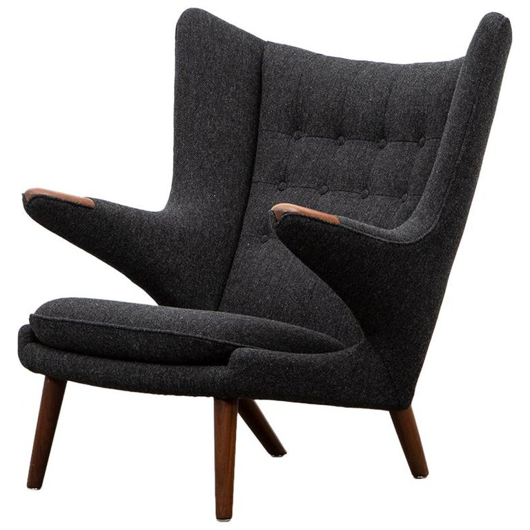 1950s Papa Bear Chair by Hans Wegner 'g' For Sale