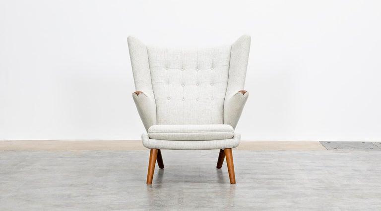 Upholstery 1950s Papa Bear Chair by Hans Wegner 'k' For Sale