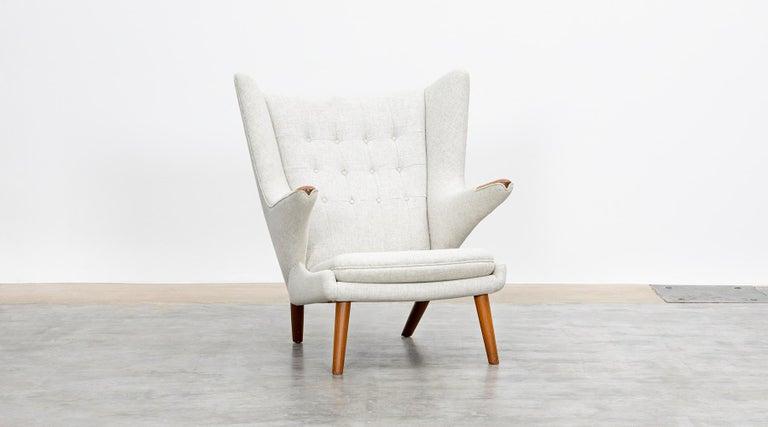 1950s Papa Bear Chair by Hans Wegner 'k' For Sale 1