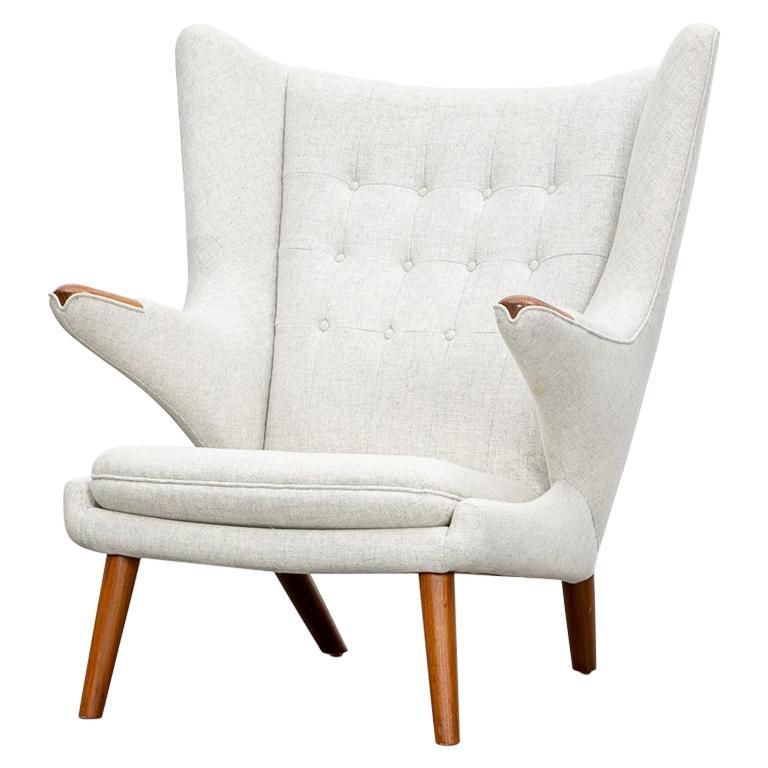 1950s Papa Bear Chair by Hans Wegner 'k' For Sale