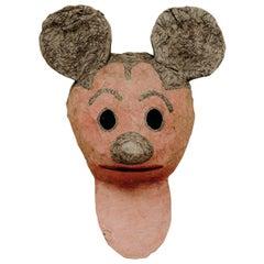 1950s Papier Mâché Mask, Mickey Mouse