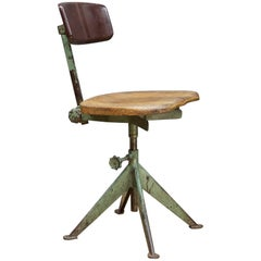1950s Parisian Experfi Bervete Drafting Chair S.G.D.G. Attributed to Jean Prouve