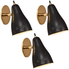 1950s Perforated Italian Wall Lamp Attributed to Giuseppe Ostuni for Oluce