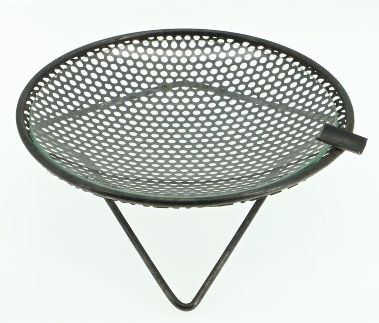 1950s Perforated Metal Atomic Dish Ashtray Nº S30 by