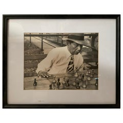 1950s Photograph Mexican Chess Player by Raymond Groce