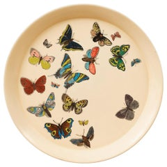 1950s Piero Fornasetti Butterfly Motif Serving Tray