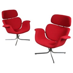 "1950s, Pierre Paulin ""Big Tulip"" Lounge Chairs"