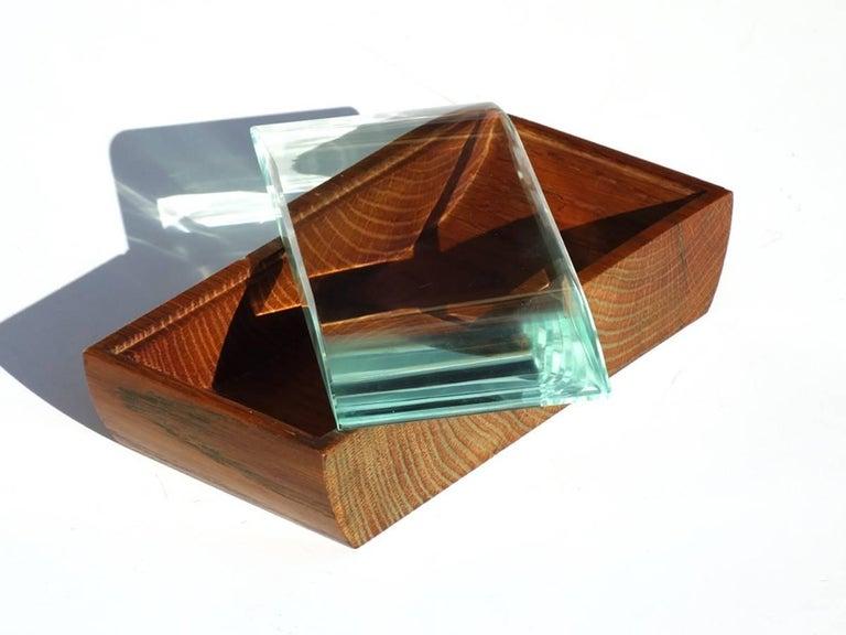 Mid-20th Century 1950s Pietro Chiesa by Fontana Arte Italian Design Crystal Box For Sale