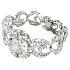 1950s Platinum and Diamond Link Bracelet