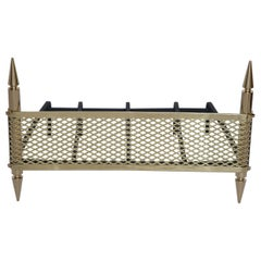 1950s Polished Brass Fireplace Grate by Stilnovo, Italy