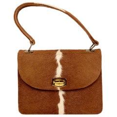 1950s Pony Hair Cowhide Top Handle Bag
