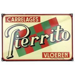 1950s, Porcelain Sign for Tiles, Belgium
