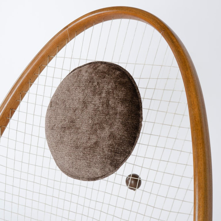 1950s Racquet Chair by Vestergaard Jensen for Peder Pedersen For Sale 2