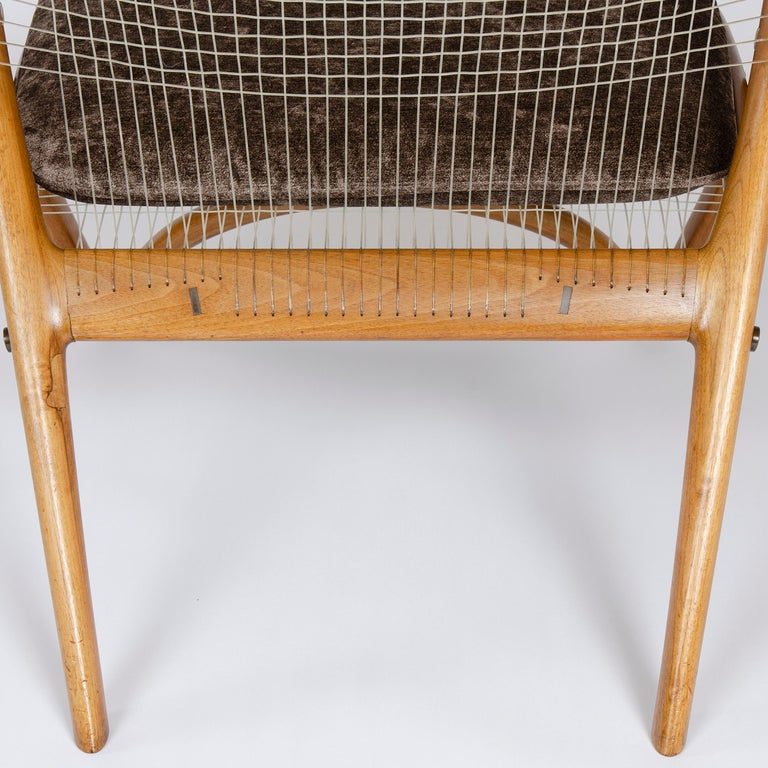 1950s Racquet Chair by Vestergaard Jensen for Peder Pedersen For Sale 3
