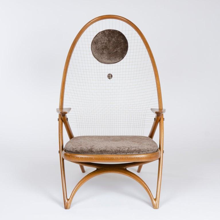 Scandinavian Modern 1950s Racquet Chair by Vestergaard Jensen for Peder Pedersen For Sale