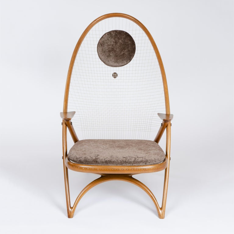 Danish 1950s Racquet Chair by Vestergaard Jensen for Peder Pedersen For Sale