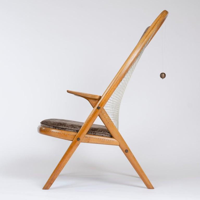 Mid-20th Century 1950s Racquet Chair by Vestergaard Jensen for Peder Pedersen For Sale