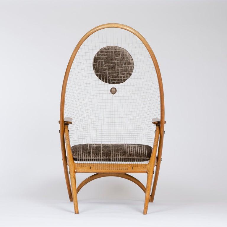 1950s Racquet Chair by Vestergaard Jensen for Peder Pedersen For Sale 1