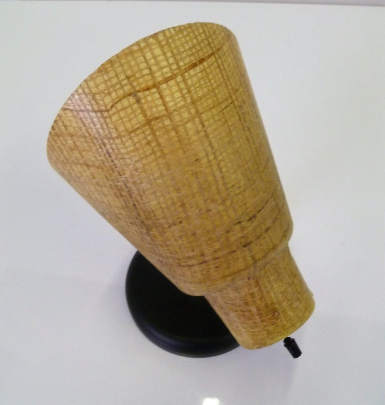 Mid-20th Century Tropical Modern 1950s Acrylic Raffia Cone Wall Sconces For Sale