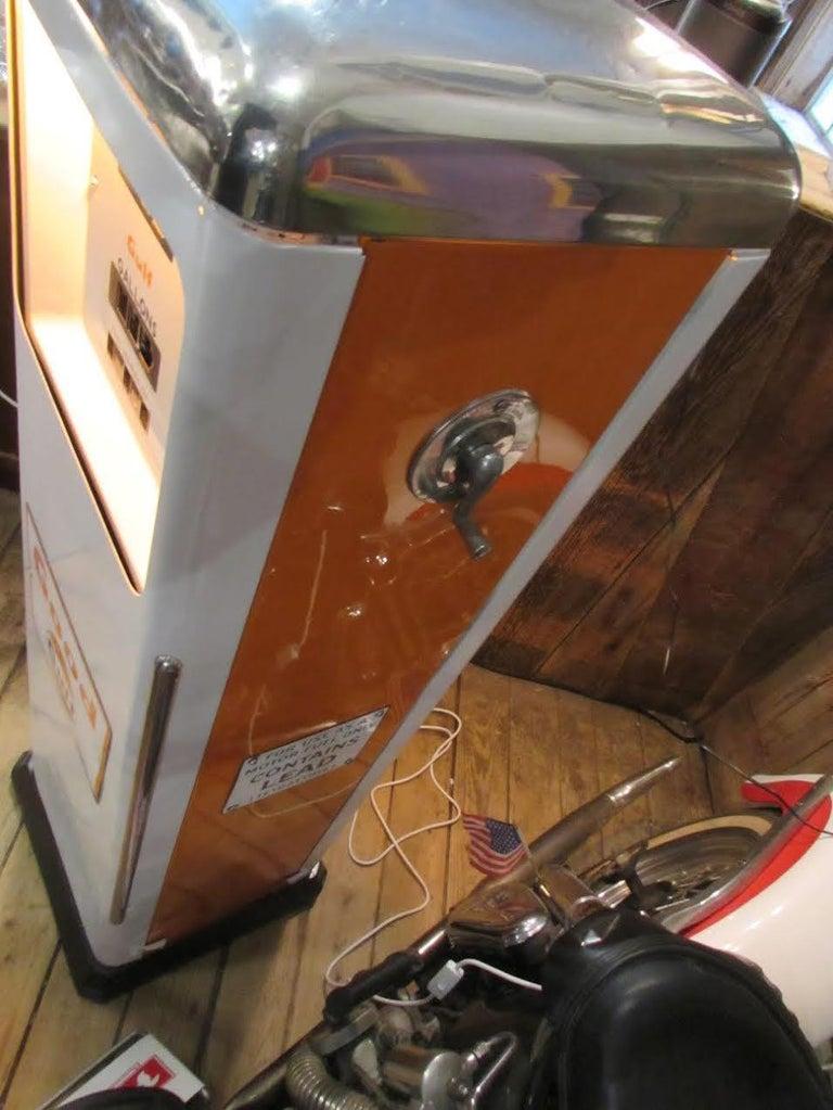 American 1950s Rare Gulf Gas Pump For Sale