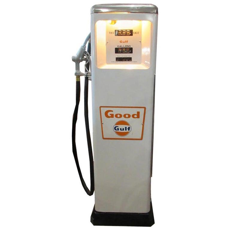 1950s Rare Gulf Gas Pump For Sale
