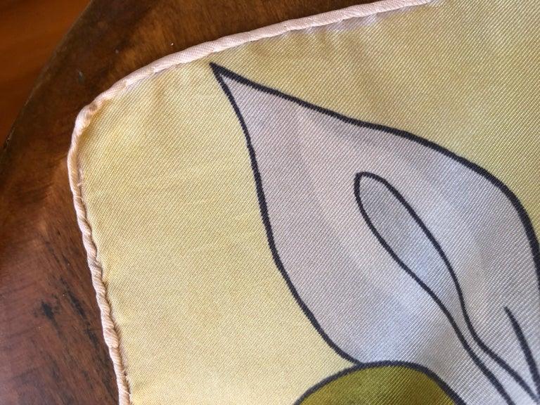 1950s Rare Jean Desses Superb Silk Scarf 29.5
