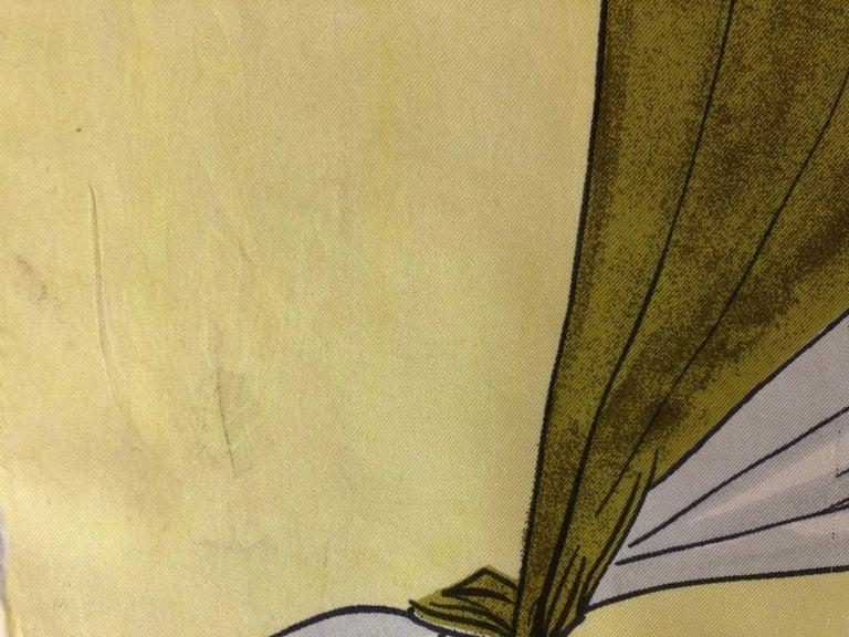 Women's 1950s Rare Jean Desses Superb Silk Scarf 29.5