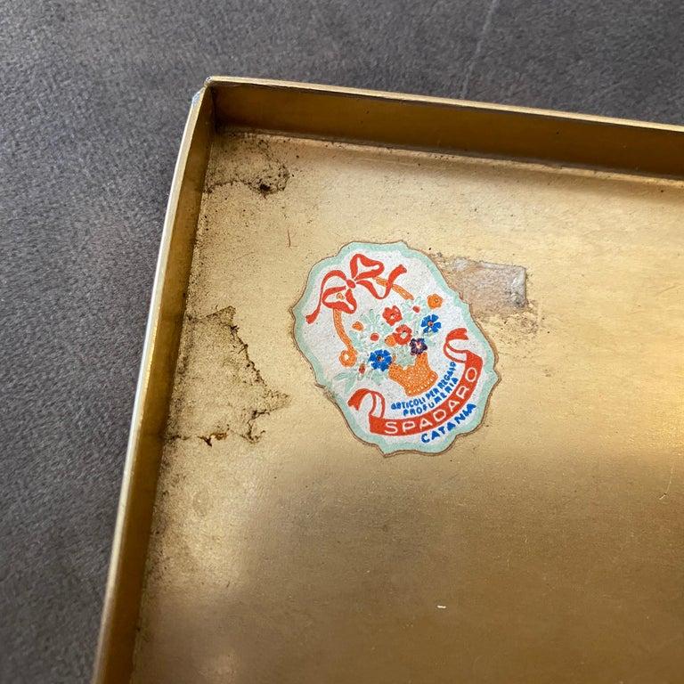 1950s Rare Piero Fornasetti Mid-Century Modern Enameled Cigarette Box For Sale 2