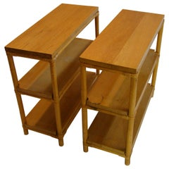 1950s Rattan Bookshelf End Tables Part of a Larger Paul Frankl Seating Group