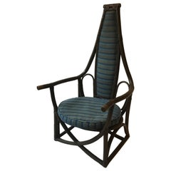 1950s Rattan Throne Chair