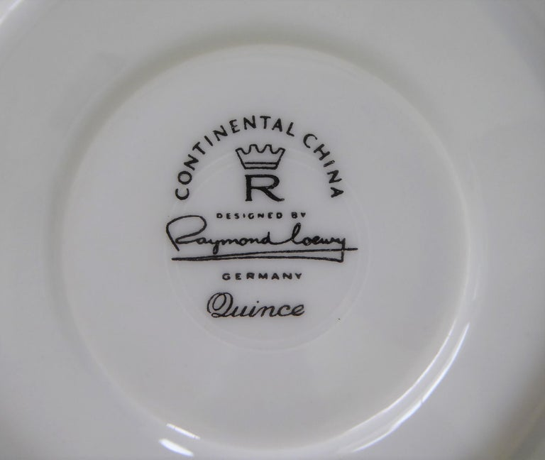 1950s Raymond Loewy Quince Pattern 36 Pieces Breakfast Set by Rosenthal Germany For Sale 6