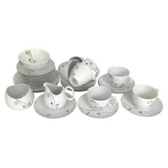 1950s Raymond Loewy Quince Pattern 36 Pieces Breakfast Set by Rosenthal Germany