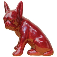1950s Red-Bordeaux French Bulldog Figurine